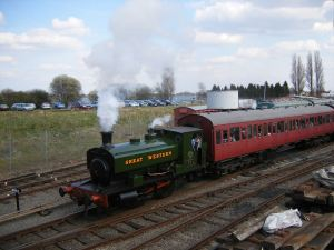 Barclay 701 leaving Brownhills West, Easter 2007