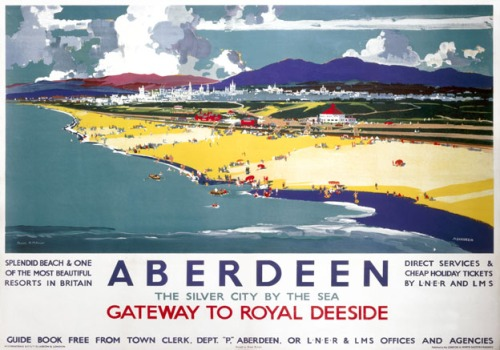 Aberdeen, Gateway to Royal Deeside.  LNER/LMS Vintage Travel posyers