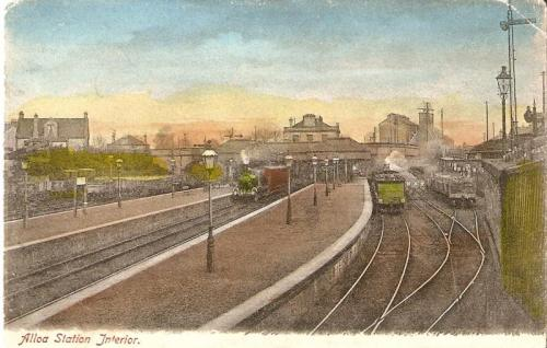 Old Alloa Station - early 1900s www.scot-rail.co.uk